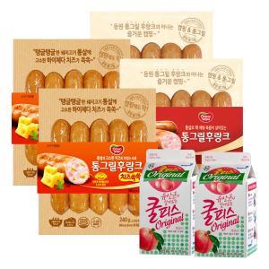 [동원] 통그릴후랑크 300gx2봉+후랑크치즈쏙쏙240gx2봉+쿨피스450mlx2팩 증정
