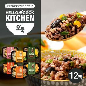 [오쿡] 영양밥 도시락 6종 혼합 12팩