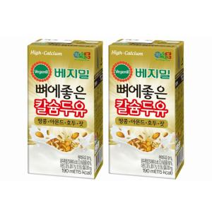 [정식품] 베지밀 뼈에좋은 칼슘두유 땅콩아몬드호두잣 190mlx48팩
