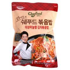 [메가마트] 롯데 쉐푸드 의성마늘햄 김치 볶음밥 450g