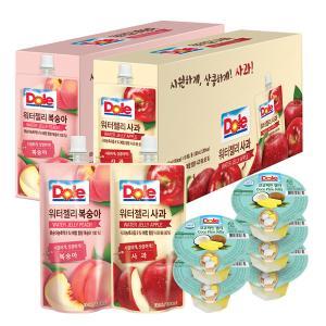 [동원] Dole 워터젤리 130ml*20개입 (복숭아10/사과10)+컵젤리(코코파인)90gx5개