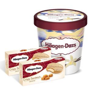 하겐다즈 아이스크림 파인트 1개+크리스피샌드위치 2개