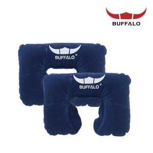 버팔로 정품 에어 목베게 2개 1세트/에어사각베개/휴대용베개