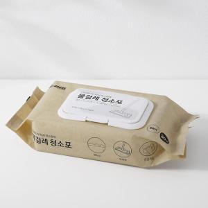 [홈앤하우스] 너도밤나무 터치 청소밀대 물걸레 청소포 30매