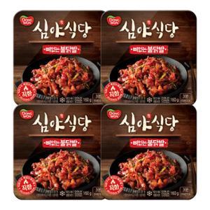 [동원] 심야식당 뼈없는불닭발 160gx4팩+치즈디퍼즈 35g*5(증정)