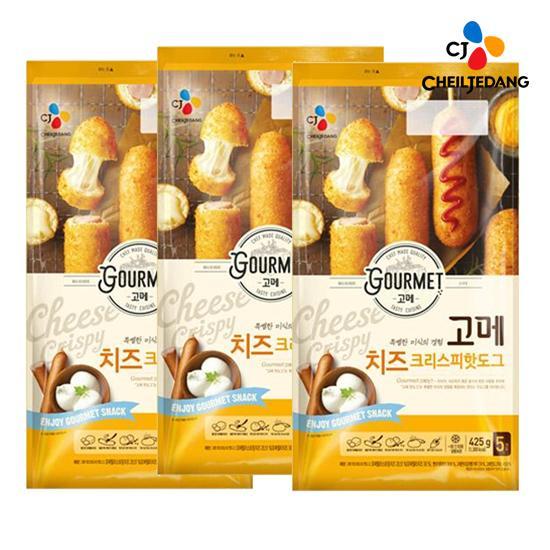 [CJ] 고메 치즈크리스피핫도그 425g x3개