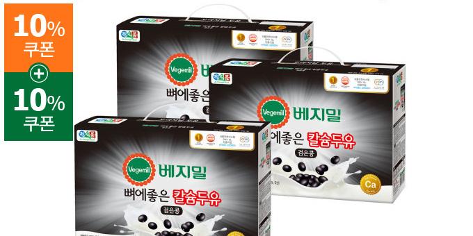 [정식품] 베지밀 뼈에좋은 칼슘두유 검은콩 190mlx72팩