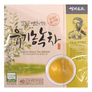 [메가마트] 김동곤 명인 유기농녹차차 40T 1.2g*40T