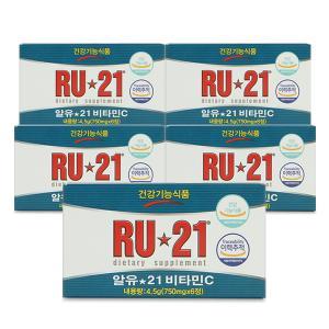 알유21 비타민C (RU21, 750mgX6정) 5갑