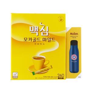 [메가마트] 맥심 모카 믹스 마블기획 12g*260개 (사은품 마블 보틀 색상 랜덤 발송)
