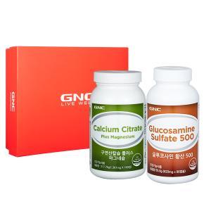 GNC 관절 건강세트 [구연산칼슘 + 글루코사민 황산 500]