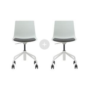 듀오백 바인츠 1+1 스위블 웜체어 의자세트