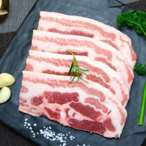 [비앤피월드] 바베큐 국내산 삼겹살 슬라이스(냉동) 500g