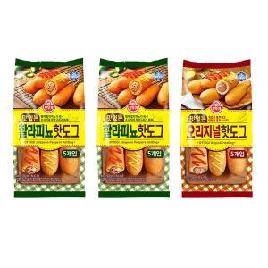 [오뚜기] 맛있는 할라피뇨 핫도그 (10개입) + [오뚜기] 맛있는 오리지널 핫도그 (5개입)