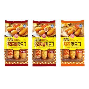 [오뚜기] 맛있는 오리지널 핫도그 (10개입) + [오뚜기] 맛있는 치즈 핫도그 (5개입)