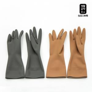 [생활공작소] 고무장갑 그레이 10입
