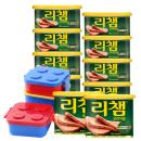 리챔 200g* 8캔 (유통기한 2019.07.01) + 리챔 340gX2캔+옥스포드 런치박스 (오픈트레이)