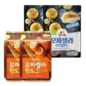 [풀무원]모짜렐라 핫도그 호떡만두 2종세트(핫도그 10개+호떡만두2봉)