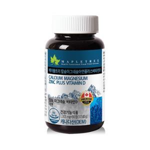 [메이플트리] 칼슘마그네슘아연+비타민D 90정(3개월분)