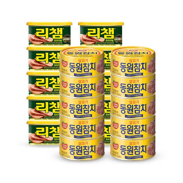 [동원]라이트스탠다드 150Gx10 캔+리챔 200Gx10캔