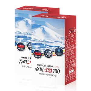 슈퍼크릴100(1,000mg × 30캡슐) × 2EA