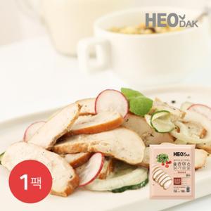 [허닭] 샐러드와 잘 조화되는 슬라이스 닭가슴살 훈제 100g