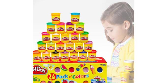 [해즈브로]클래식 플레이도우 24팩 (어린이 찰흙장난감)