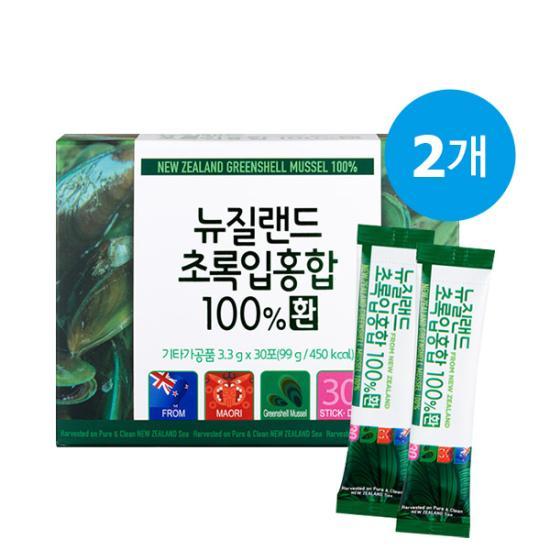 ★1+1★ 뉴질랜드 초록입홍합 100% 환 (30포) / 총 2개