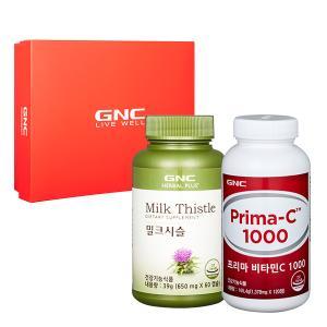 GNC 프리미엄 간 건강 세트 [프리마C 1000(120)+밀크씨슬(60)]