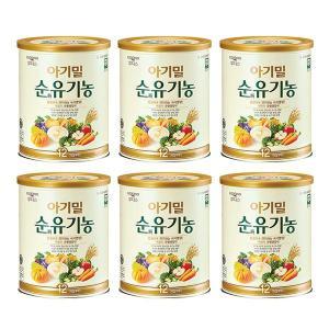 후디스 아기밀 순유기농 12개월부터 6캔 (540g)