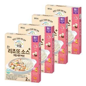 키요 순한 리조또 소스 크림 새우 버섯 180g×4개 / 반박스