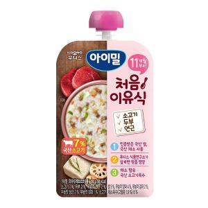 아이밀 처음이유식 소고기 두부 연근 100g