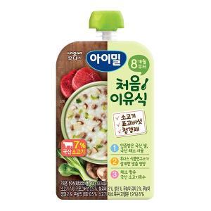 아이밀 처음이유식 소고기 표고버섯 청경채 100g