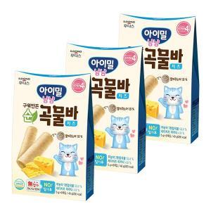 아이밀 냠냠 구워만든 순곡물바 치즈 40g(5gx8개입)x3개
