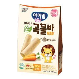 아이밀 냠냠 구워만든 순곡물바 당근 40g(5gx8개입)