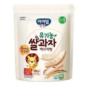 아이밀 냠냠 유기농쌀과자 백미떡뻥(30g)
