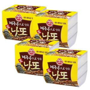 [오뚜기]제주콩으로 만든 생낫또 168g*4pack