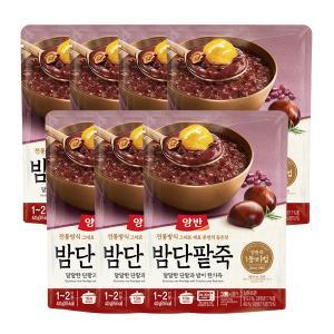 [동원] 양반 밤단팥죽 (파우치죽) 420g x 7개