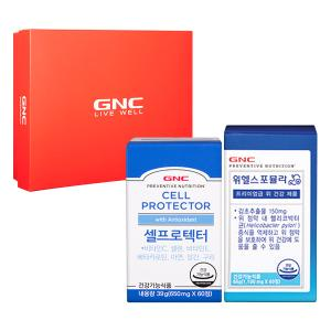 GNC 항산화 & 위 건강 세트 [셀 프로텍터(60)+위헬스 포뮬라(60)]