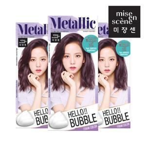 미쟝센 헬로버블7MA 메탈릭애쉬 30gx3개