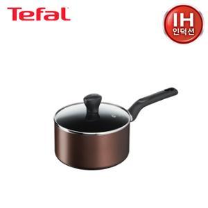 [테팔] 인덕션 초콜릿 티타늄 프로 냄비 편수 18cmTFC-ICS8