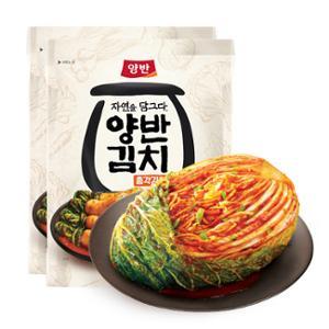 [동원] 양반김치 포기김치 7kg+자연을 담그다 총각김치 500g X 2개