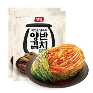 [동원] 양반김치 포기김치 7kg+자연을 담그다 갓김치 500g X 2개