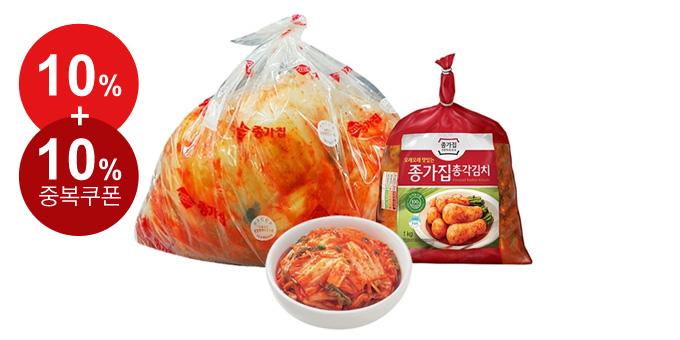 [최종혜택가 24,900원] 종가집 맛김치(백두)5kg + 총각김치/열무김치 1kg (택1)