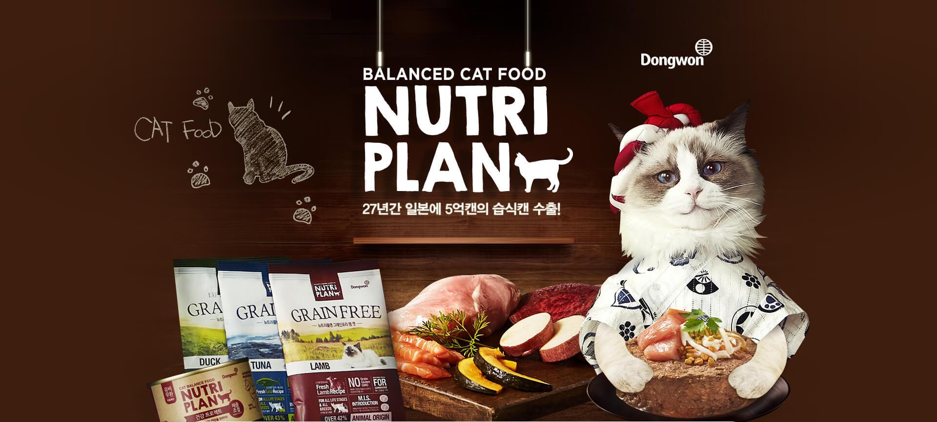 balanced formula for cat Nutri plan 뉴트리플랜 그레인프리 런칭 기념
