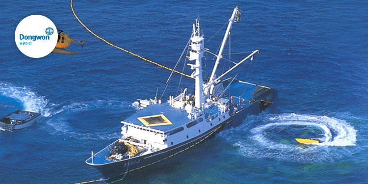 동원산업 브랜드 스토리 바다에서 식탁까지, 신선함을 전합니다.