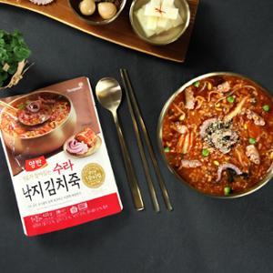 (파우치) 수라 낙지김치죽 420g