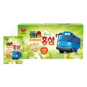 천지인 타요 홍삼 사과맛 10개입*5세트 /총 50개 (유통기한 : 2020년 11월 5일)