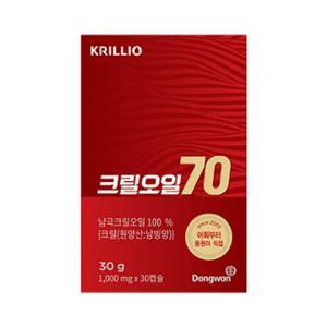 크릴오일 70 (1,000mg X 30캡슐)_NEW