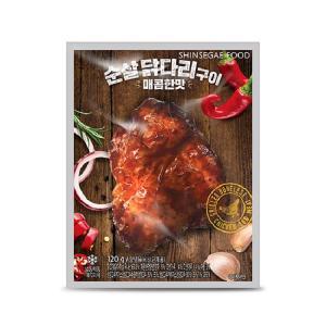 [신세계푸드] 순살닭다리 매콤구이 120g